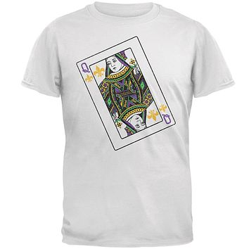 Queen of Mardi Gras Card Mens T Shirt