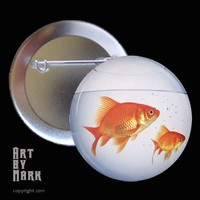 Goldfish Bowl Pinback Button by ArtByMark on Etsy