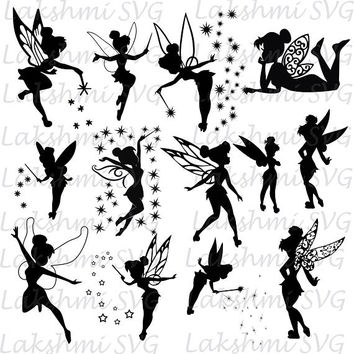 Tinkerbell svg,Tinkerbell clipart, Tinker Bell svg Disney files silhouette, digital svg ,SVG Pack, files for Silhouette,png,dxf,ai