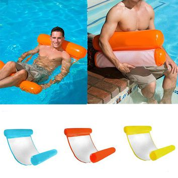 Foldable Outdoor Water Hammock Float Lounger Inflatable Floating Bed Lounge Floating Bed Swimming Pool Inflatable Hammock Bed