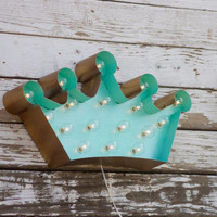 BIG Crown Marquee Vintage Style Metal Steel...........    Birthday Decor Home Bedroom Queen Princess Kitchen
