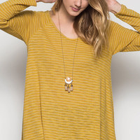 Long Sleeve Tunic with Keyhole Back