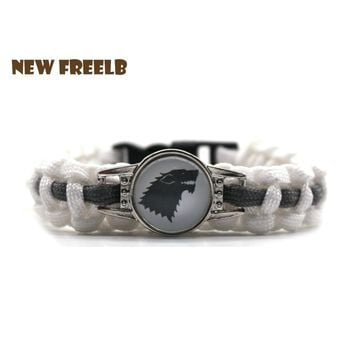 Personalized Jewelry Game of Thrones 7 House Symbol 550 Paracord Survival Bracelet Stark Targaryen Outdoor Fashion for Fans