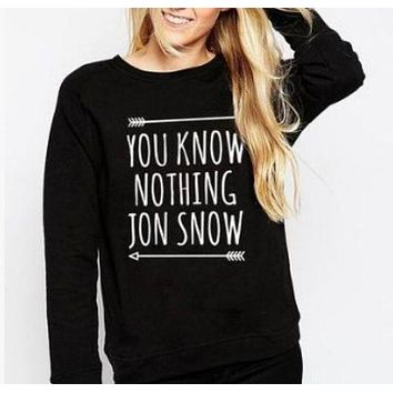 DCCKR2 [You know nothing] fashion new English sweater personality couple sweater