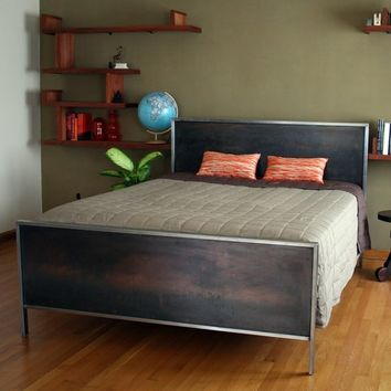 Steel Panel Bed - King Size