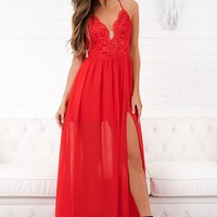 Romance Me Shift Dress (Red)
