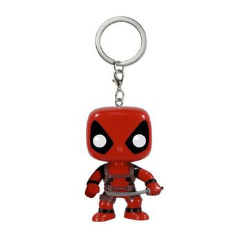 Marvel The Avengers Deadpool Keychain Action Figures Toy Doll with Retail Box