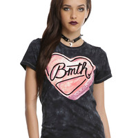 Bring Me The Horizon Candy Heart Girls Mineral Wash T-Shirt