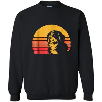 Vintage Eighties Style Bernese Mountain Dog  Printed Crewneck Pullover Sweatshirt