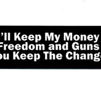 Motorcycle Helmet Sticker - I'll Keep My Money Freedom and Guns