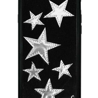 Black Velvet Silver Stars iPhone 6/6s Case