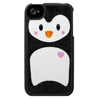 Cute Girly Penguin iPhone 4 Case from Zazzle.com