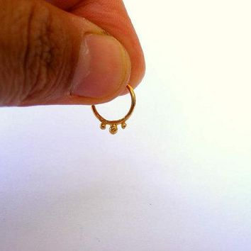 NEW!!! SUPER CUTE 14K GOLD, ITTY BITTY LITTLE Nose or Septum Ring!