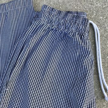 CHEF WORKS Checkered Black & White Pants Size Medium
