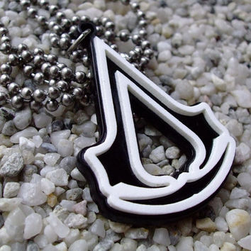 Assassin's Creed laser cut acrylic pendant necklace or key chain super SALE for this week was 15USD