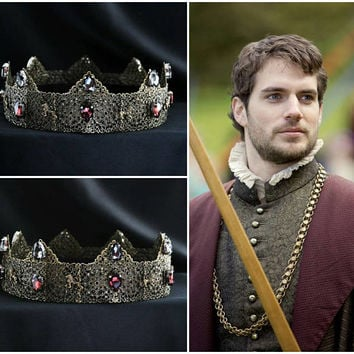 Purple Medieval Times, Medieval Crown, Custom Wedding Crown, Male Headpiece, Renaissance Wedding, Tudor, Design Your Own Crown