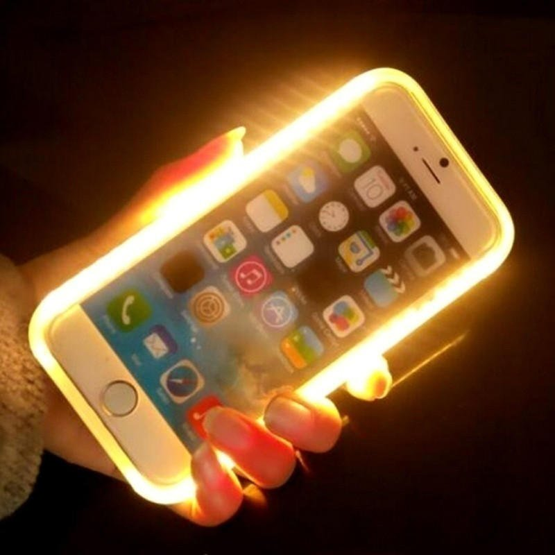 Llluminated Selfie Case Light Up Led Cell Phone Cases for Iphone 6 6s plus 2fcc942345