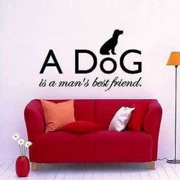 Wall Sticker Vinyl Decal Dog Animal Friendship Excellent Decor for Room Unique Gift (ig1146)