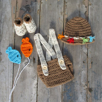 Best crochet fishing hat products on wanelo for Baby fishing outfit
