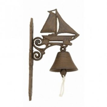 Rustic Cast Iron Sailboat and Bell