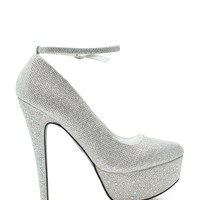 Penelope-183 Bling Bottom Pump