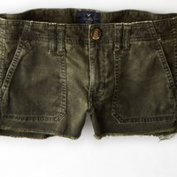 AEO 's Military Cargo Shortie (Military Green)