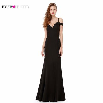 Prom Dresses Sexy V-neck Women's Elegant Off-the-shoulder Sleeveless Long Prom Party Dresses Ever Pretty EP07017 2017