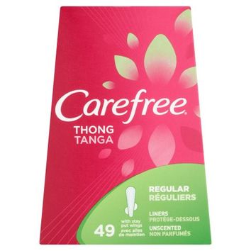 Carefree Unscented Regular Thong Pantiliners, 49 ct - Walmart.com