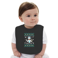 Rick And Morty Christmas Tee Baby Bib