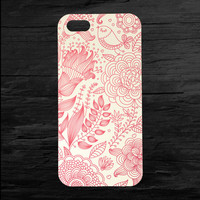 Floral Bird Pattern Case for iPhone 4 and 5