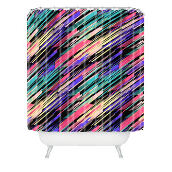 Jacqueline Maldonado Retro 3 Shower Curtain