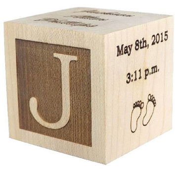 Best personalized baby blocks products on wanelo wooden baby block baby gifts shower gift newborn gifts laser engraved gifts negle Image collections