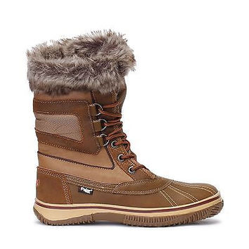 Pajar Canada Mens Tuscan Snow Boots Lined Waterproof Cognac Leather