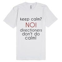 we dont do calm-Unisex White T-Shirt