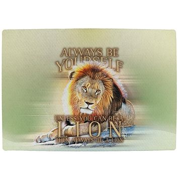 Always Be Yourself Unless Lion All Over Indoor Mat