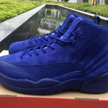 NIKE AIR JORDAN 12 Premium Deep Royal Blue Suede