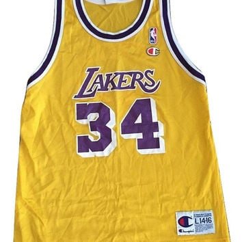 Vintage throwback Los Angeles Laker Shaquille O'neal Shaq NBA Jersey Women Men Unisex shirt Champion RARE Clothing