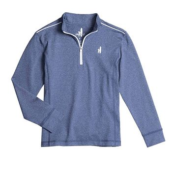 Youth Lammie Prep-Formance 1/4 Zip Pullover in Lake by Johnnie-O