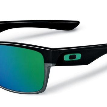 New Oakley TwoFace Polished Black w/Jade Iridium 9189-04