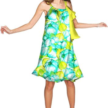 Sunny Day Melody Green Chiffon Swing Dress - Women