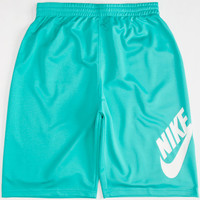 Nike Sb Mesh Swoosh Boys Dri-Fit Shorts Mint  In Sizes