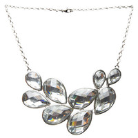 Faceted Teardrop Necklace - WetSeal