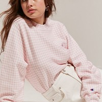 Champion + HVN for Urban Outfitters Gingham Crew-Neck Sweatshirt | Urban Outfitters