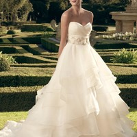 Casablanca Bridal 2174 Strapless Ruffle Ball Gown Wedding Dress