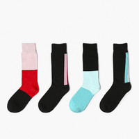 Monochrome Color 4 Sock Set