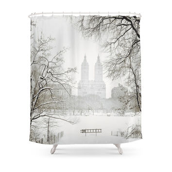 Society6 Winter - Central Park - New York City Shower Curtains