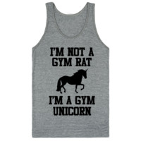 Im Not A Gym Rat I'm A Gym Unicorn Classic tank top (unisex)