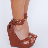 Tan Wrap Wedge