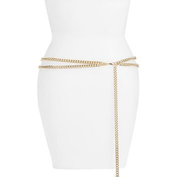 Halogen® 'Double Swag' Chain Belt | Nordstrom