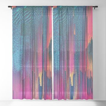 Party Puke Sheer Curtain by duckyb